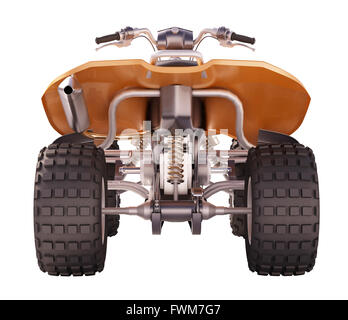 ATV quad bike isolated on white background - Stock Photo