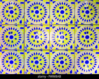 Vintage flowers floor use to interior and build-in - Stock Photo