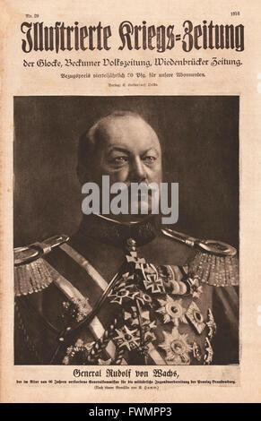 1916 Illustrierte Kriegs-Zeitung front page General Rudolf von Wachs - Stock Photo