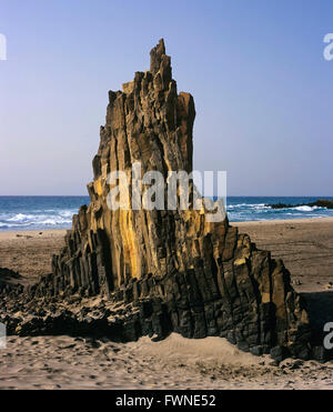 Basalts creek, Natural Park of Cabo de Gata Nijar, Almeria province, Region of Andalusia, Spain, Europe - Stock Photo