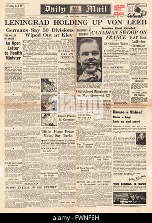 1941 front page Daily Mail Siege of Leningrad - Stock Photo