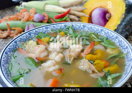kind of Thai vegetable curry - Stock Photo