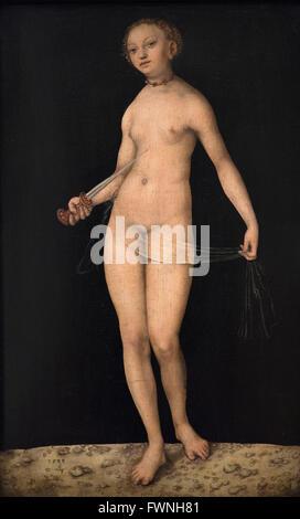 Lucas Cranach the Elder (1472–1553), Lucretia, (1533). - Stock Photo