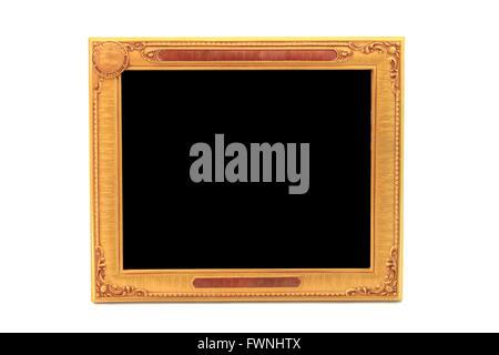 golden beautiful frame - Stock Photo