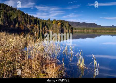 Lake Barmsee near Wallgau, Germany - Stock Photo
