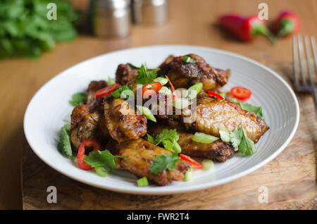Barbecue chicken wings - Stock Photo