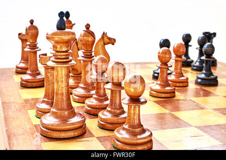Chess game. White resigned.  Spassky - Fischer - Stock Photo
