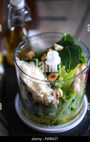 Homemade pesto - Stock Photo