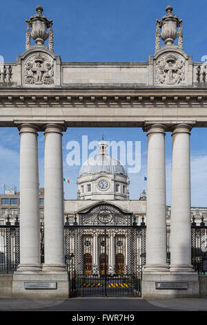Government Buildings, the seat of government of the Prime Minister, Merrion Street, Dublin, Ireland - Stock Photo