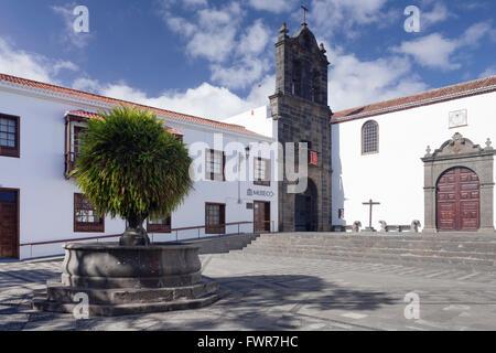 Museum and monstery Convento de San Francisco, Plaza de San Francisco, Santa Cruz de La Palma, La Palma, Canary - Stock Photo