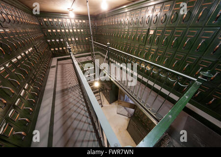 Inside and old Bank Vault. - Stock Photo