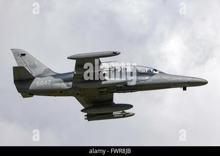 Czech Air Force Aero L-159T ALCA (Advanced Light Combat Aircraft) - Stock Photo