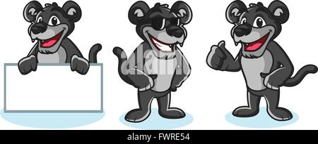 Panther Mascot Vector pose - Stock Photo