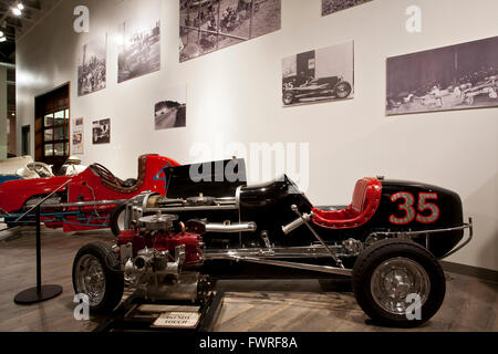 1938 Chrome Elto Midget racer. Fountainhead Antique Auto Museum. Fairbanks. Alaska. USA - Stock Photo