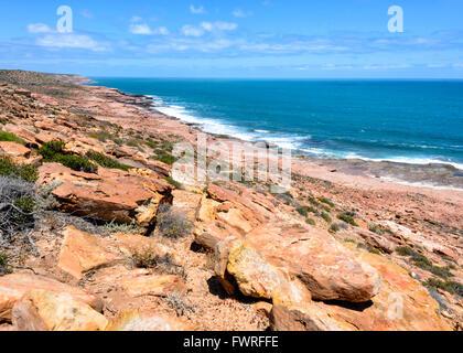 Coastline, Kalbarri National Park, Western Australia, Australia - Stock Photo