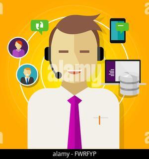 call center crm customer relationship management - Stock Photo
