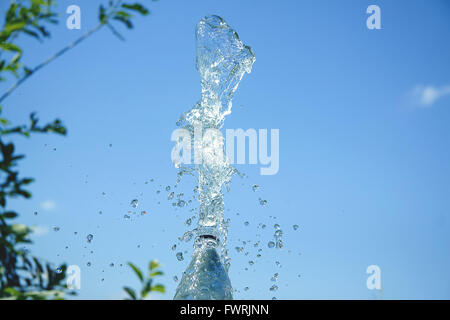 splashes of water in the sky - Stock Photo