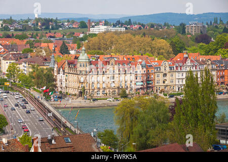 aerial view of konstanz city germany and town of kreuzlingen stock photo 101938179 alamy. Black Bedroom Furniture Sets. Home Design Ideas