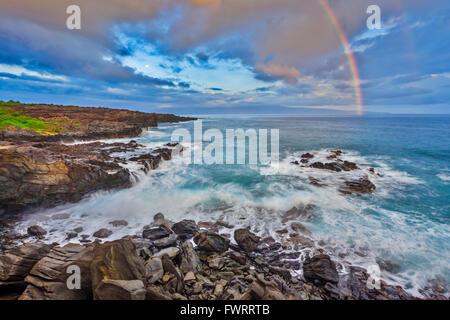 North shore Maui coast - Stock Photo