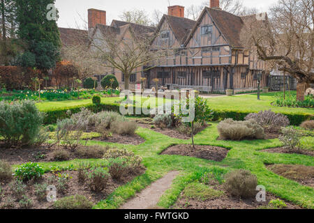 The rear of Hall's Croft, the substantial Jacobean home of Shakespeare's daughter Susanna and her husband Dr John - Stock Photo