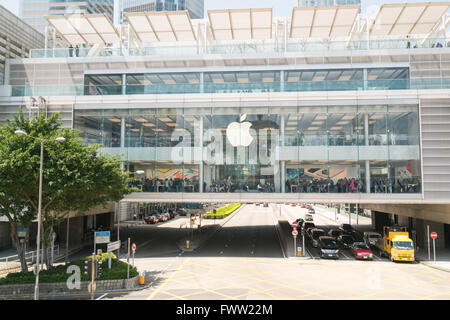 The Apple Store in the central of Hongkong - Stock Photo