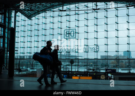 Berlin main train station, Germany - Stock Photo