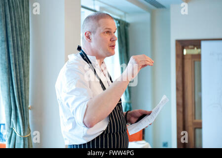 Martijn Kajuiter, the Michelin star head chef with The House restaurant at the five star Cliff House Hotel,Ardmore, - Stock Photo