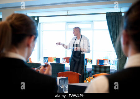 Martijn Kajuiter, the Michelin star head chef at The House restaurant at the five star Cliff House Hotel in Ardmore, - Stock Photo