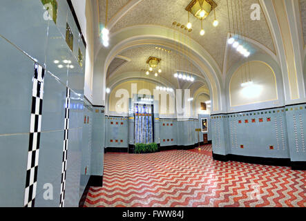 Prague, Czech Republic. Obecni dum / Municipal House (1912 - renovated 1990s) Art nouveau building basement .... - Stock Photo