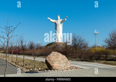 Christ the King, the world's largest statue of Jesus, Swiebodzin, Lubusz Voivodeship, in western Poland, Europe - Stock Photo