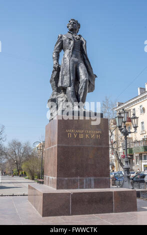 ROSTOV-ON-DON, RUSSIA- APRIL 07- Monument Alexander Sergeevich Pushkin on April 07; 2016 in Rostov-on-Don - Stock Photo
