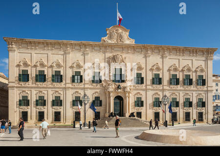 Auberge de Castille in Valletta, Malta. - Stock Photo