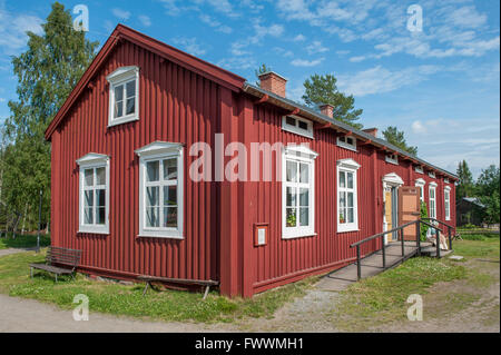 Traditional farm building in northern Sweden - Stock Photo