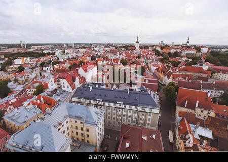 panorama of Tallinn, Estonia - Stock Photo