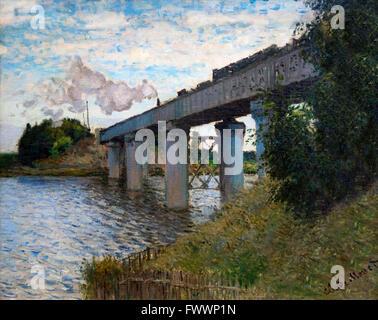 The bridge at argenteuil 1874 claude monet 1840 1926 for Imag fer forget argenteuil