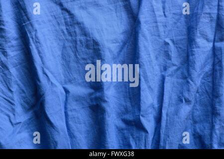 blue fabric canvas - Stock Photo