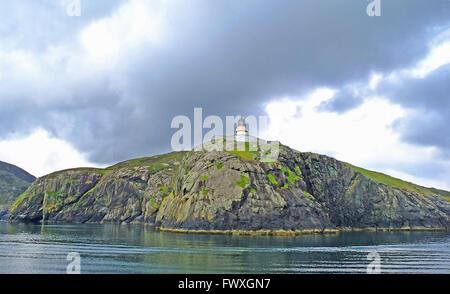 Yachts race on a placid sea, Strangford Lough, Ireland - Stock Photo