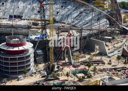 QATAR, Doha, construction site Khalifa International Stadium for FIFA world cup 2022, built by contractor midmac - Stock Photo