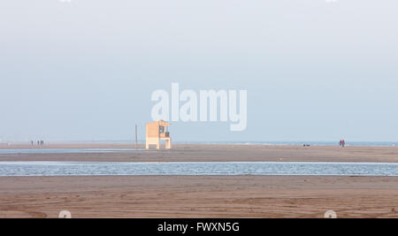 beach at Gruissan,Aude,South,France, - Stock Photo