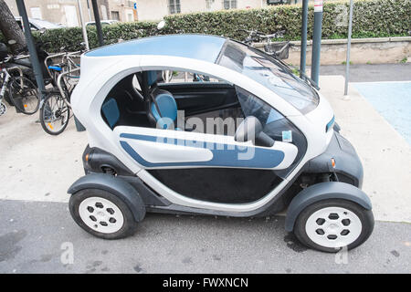 renault twizy parked in a street in barcelona spain stock photo royalty free image 124597323. Black Bedroom Furniture Sets. Home Design Ideas