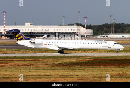 Eurowings Canadair CL-600-2D24 Regional Jet At Milan, Italy - Stock Photo