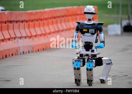 TEAM AERO robot during the DARPA Rescue Robot Showdown at  Fairplex Fairground June 5, 2015 in Pomona, California. - Stock Photo