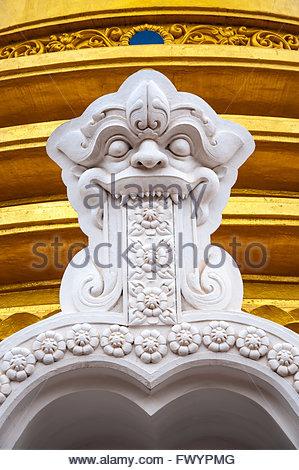 Buddhist dagoba (stupa) close up in Golden Temple. Dambulla, Sri Lanka - Stock Photo