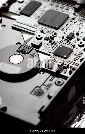 Circuit board hard drive computer - Stock Photo