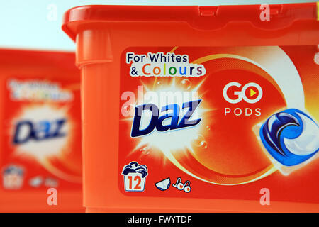 Daz laundry detergent pods - Stock Photo