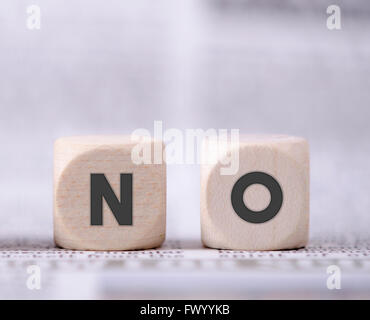 No word written on two wooden dice. - Stock Photo