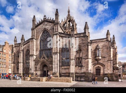St Giles Cathedral, Edinburgh, Scotland, UK - Stock Photo