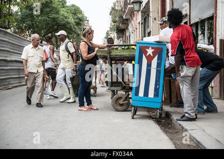 Food market in Old Havana - Stock Photo