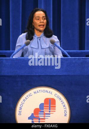 New York, New York, USA. 16th Mar, 2016. Coretta Scott King, wife of slain civil rights leader Reverend Dr. Martin - Stock Photo