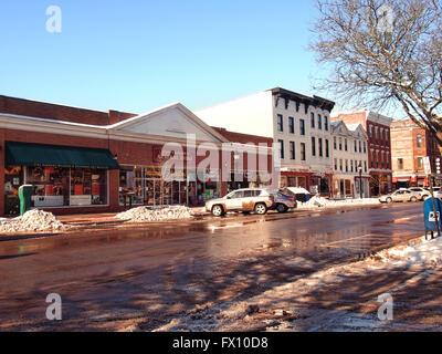 Cooperstown , New York main street - Stock Photo